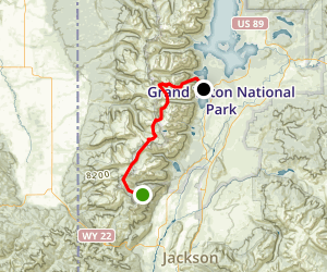 Teton Crest Trail Map
