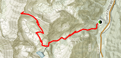 Cathedral Lake to Electric Pass Trail Map