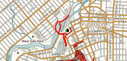 Great Falls of the Passaic River Map