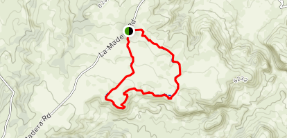 Los Duendes/Mesa Trail Map