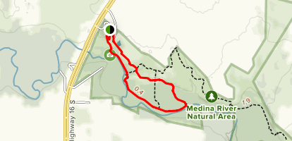 El Camino and Rio Medina Loop Trail  Map
