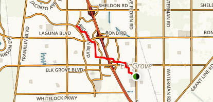 Elk Grove Creek Trail to Laguna Creek Map