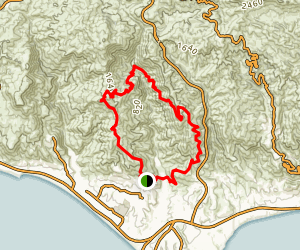 Zuma Canyon Loop Trail Map