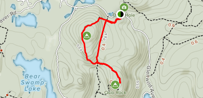 Tourne Trail to Oslo Rock Map