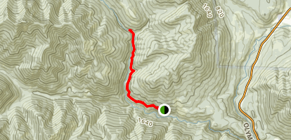 Lower Big Quilcene to Notch Pass Trail Junction Map