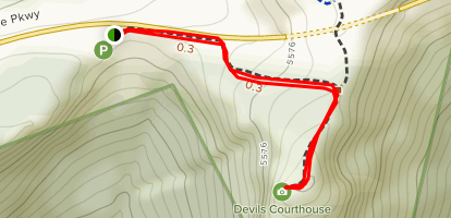 Devil's Courthouse and Black Balsam Map