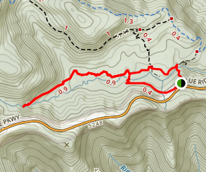 Graveyard Fields Trail Map