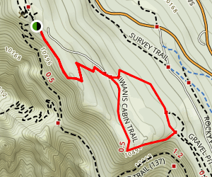 Kiwanis Cabin via South Crest Trail Map