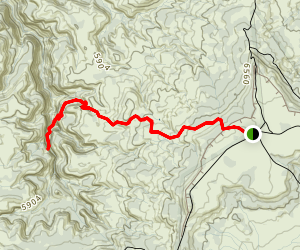 Mee Canyon Trail Map