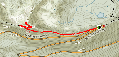 Dege Peak Trail Map