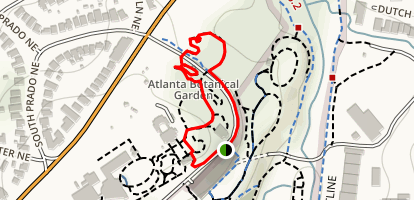 Atlanta Botanical Garden and Storza Woods Loop Trail Map