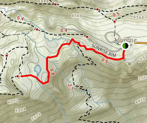 Shadow Lakes Trail Map