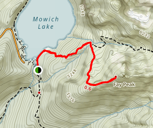Fay Peak Trail Map