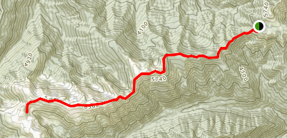 Obstruction Peak via Deer Park Trail Map