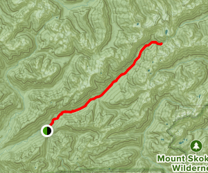 Enchanted Valley Chalet via East Fork Quinault River Trail Map
