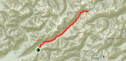 Enchanted Valley via East Fork Quinault River Trail Map