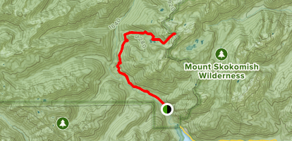 Gladys Divide Primitive Trail Map