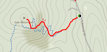 Gile Mountain Trail Map
