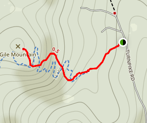Gile Mountain Trail [CLOSED] Map