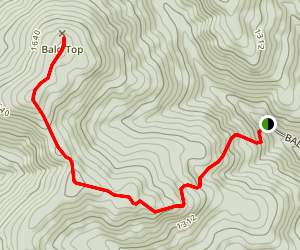 Bald Top Mountain Trail Map