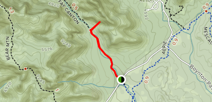 Fay Canyon Arch Trail Map