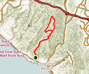 Boat Road to Bommer Ridge and Emerald Canyon Loop Trail Map