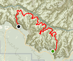 Tonto Trail from Grandview Point to South Kaibab Trailhead Map