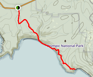 Third Beach Trail to Taylor Point Map