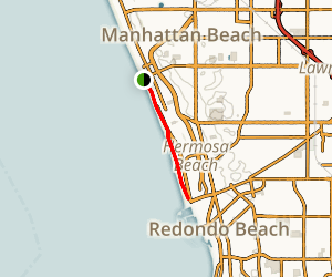 Manhattan Beach to Redondo Beach Map