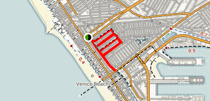 Venice Canals Trail Map