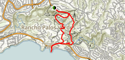 Paintbrush Trail to Portugese Bend Map