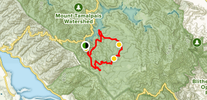 Cataract Falls Trail, High Marsh, Kent Trail, and Helen Market Trail Map