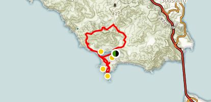 Coastal Trail, Miwok Trail, and Bonita Lighthouse Loop Map