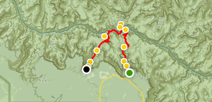 The Grand Canyon: Kaibab to Bright Angel Trail Map