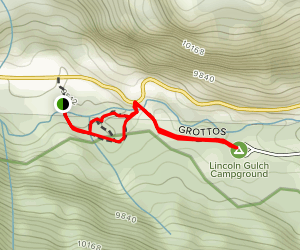 The Grottos Trail Map