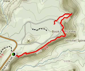 Canyon Rim Trail to Window Rock Map