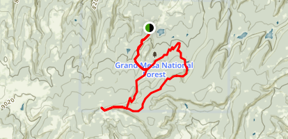 Turkey Flats Loop Trail Map