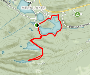Mesa Lakes Trail Map