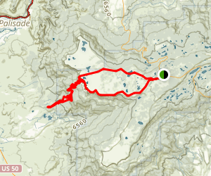 Land's End Road Grand Mesa Loop Map