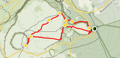Kilauea Craters Trail Map