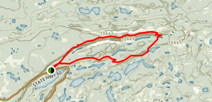 Crag Crest Trail Map