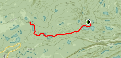 Cottonwood Lakes Foot Trail Map
