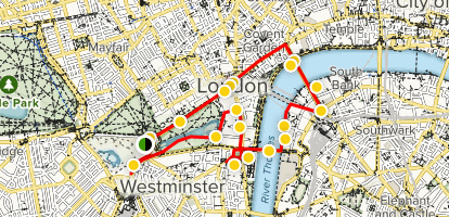 A Map Of London England.Central London Walking Tour London England Alltrails