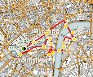 Central London Walking Tour Map