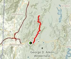 Glastenbury Mountain via Long Trail (Appalachian Trail)  Map