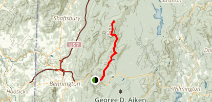 The Long Trail to Glastenbury Mountain Map