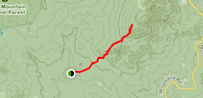 The Long Trail to Stratton Mountain  Map