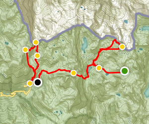 Hiking the Mercantour French National Park: Segment 2 of 3 Map