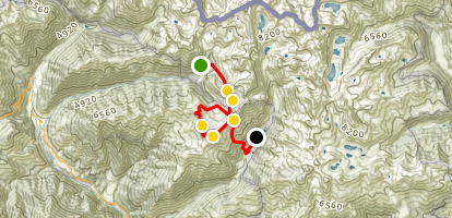 Hiking the Mercantour French National Park: Segment 3 of 3 Map