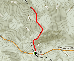 The Long Trail to Mount Horrid Map